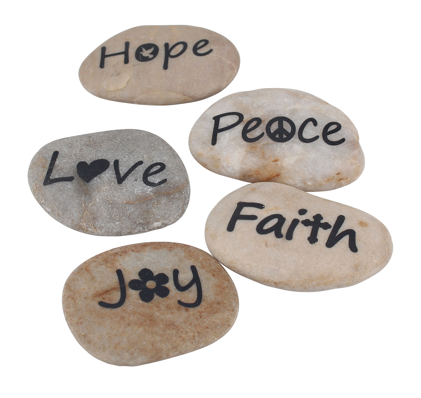 Personalized Sentiment Paper Weight Faith Rocks (Set of 5)*
