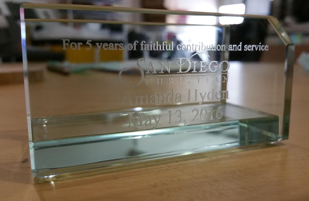 Executive Glass Business Card Holder: HansonEllis.com