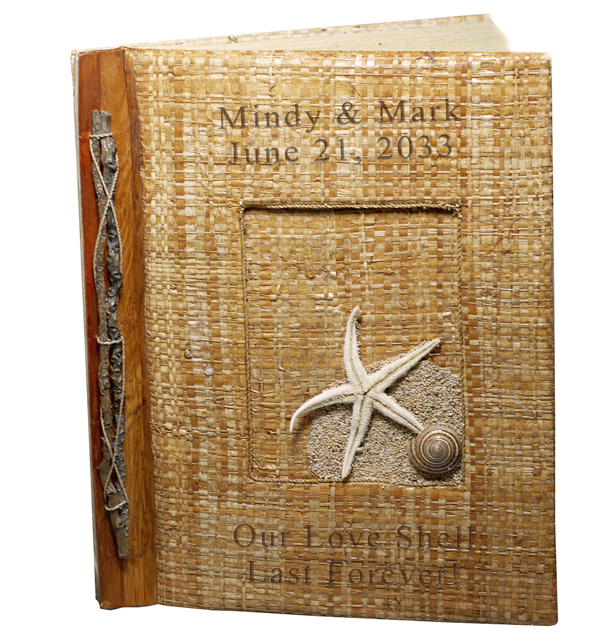 Handcrafted Natural Weaved Leaves Beach Starfish Photo Album*