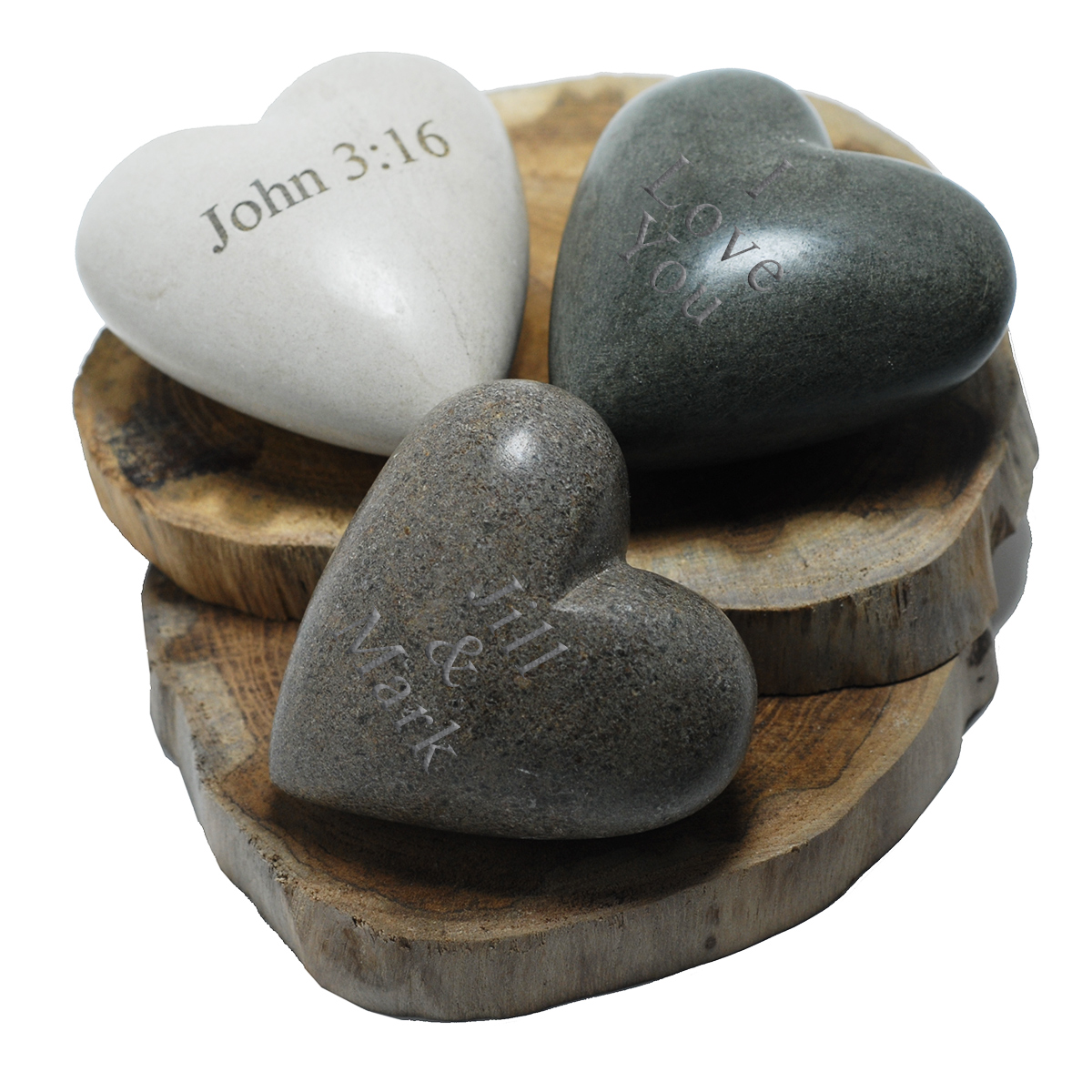 Natural Hand-carved Heart Stone Paper Weight