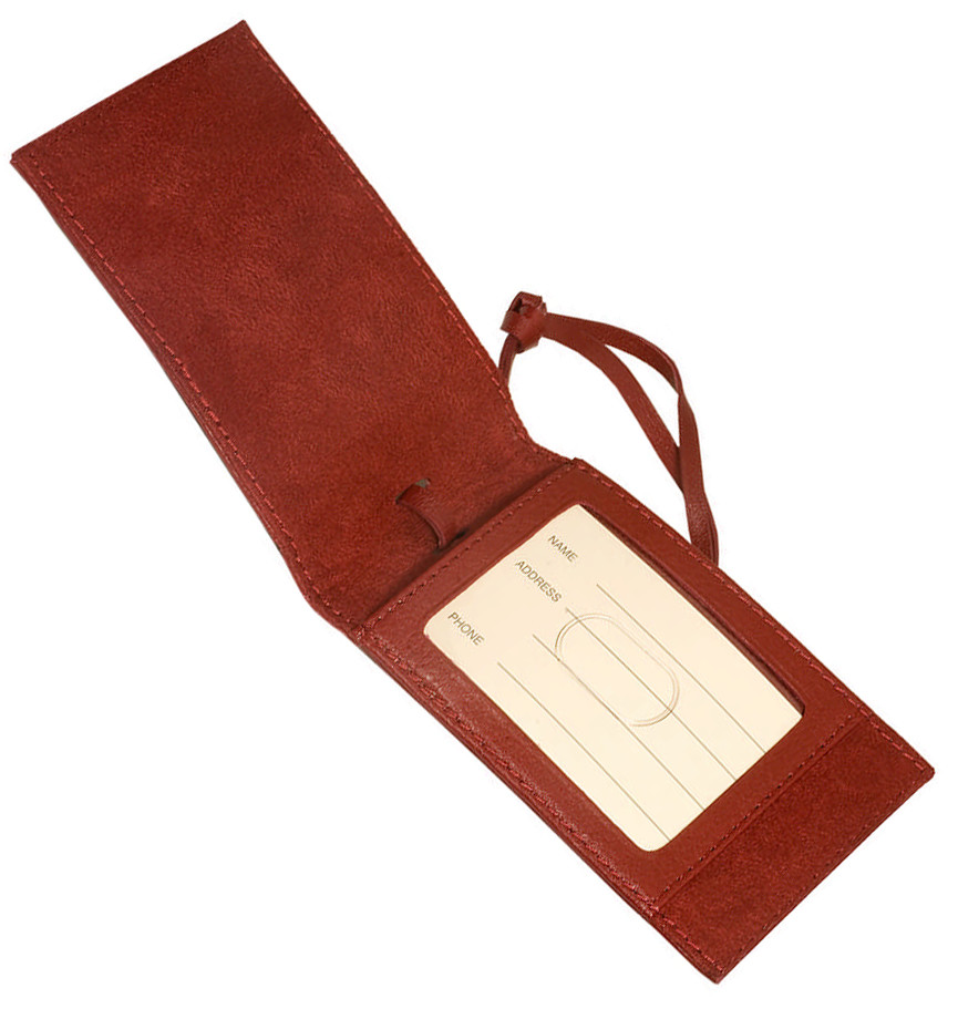 Magnetic Leather Luggage Tag