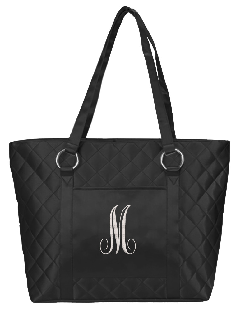 Metallic Black Chic Ladies Tote Bag