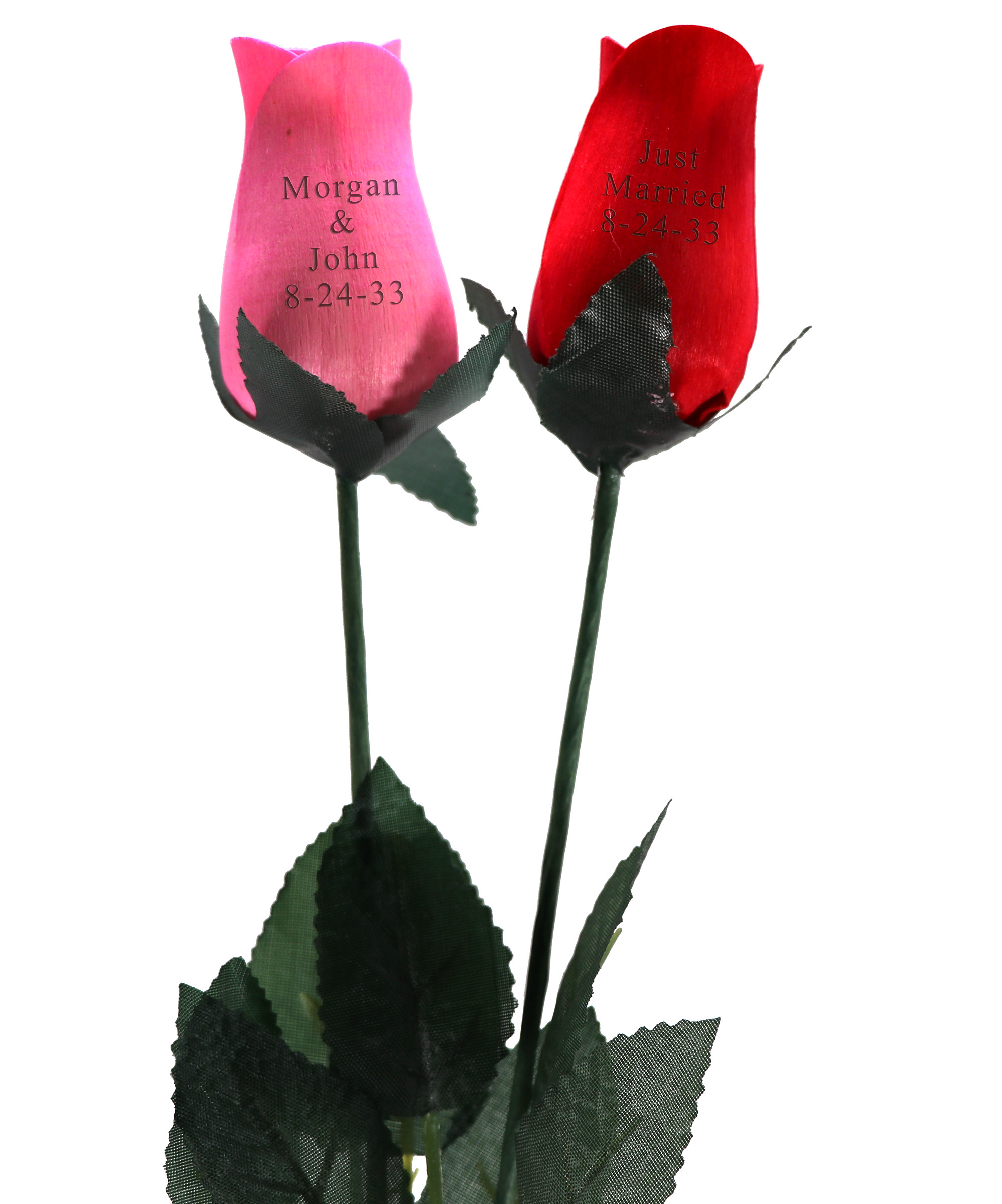 Long Stem Personalized Wood Rose: HansonEllis.com