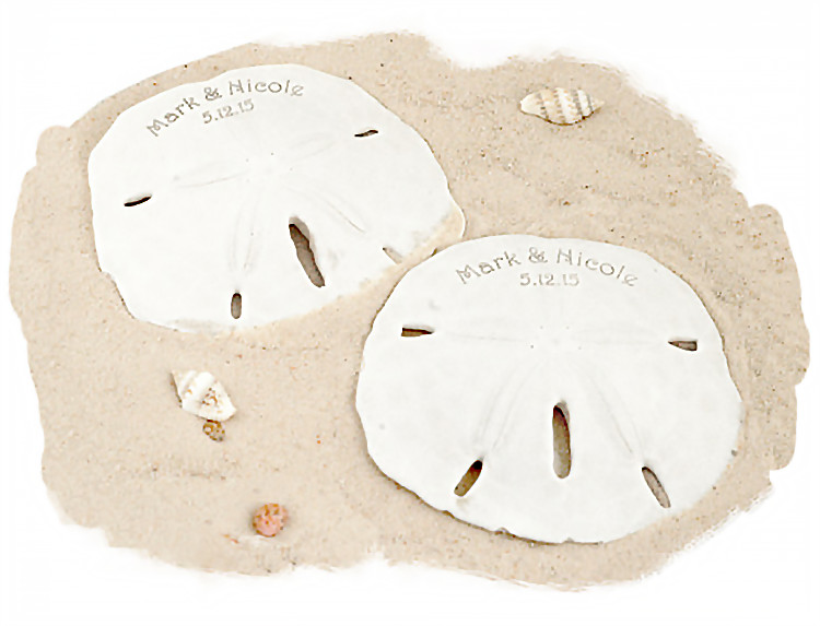 Personalized Beach Sand Dollar Favor