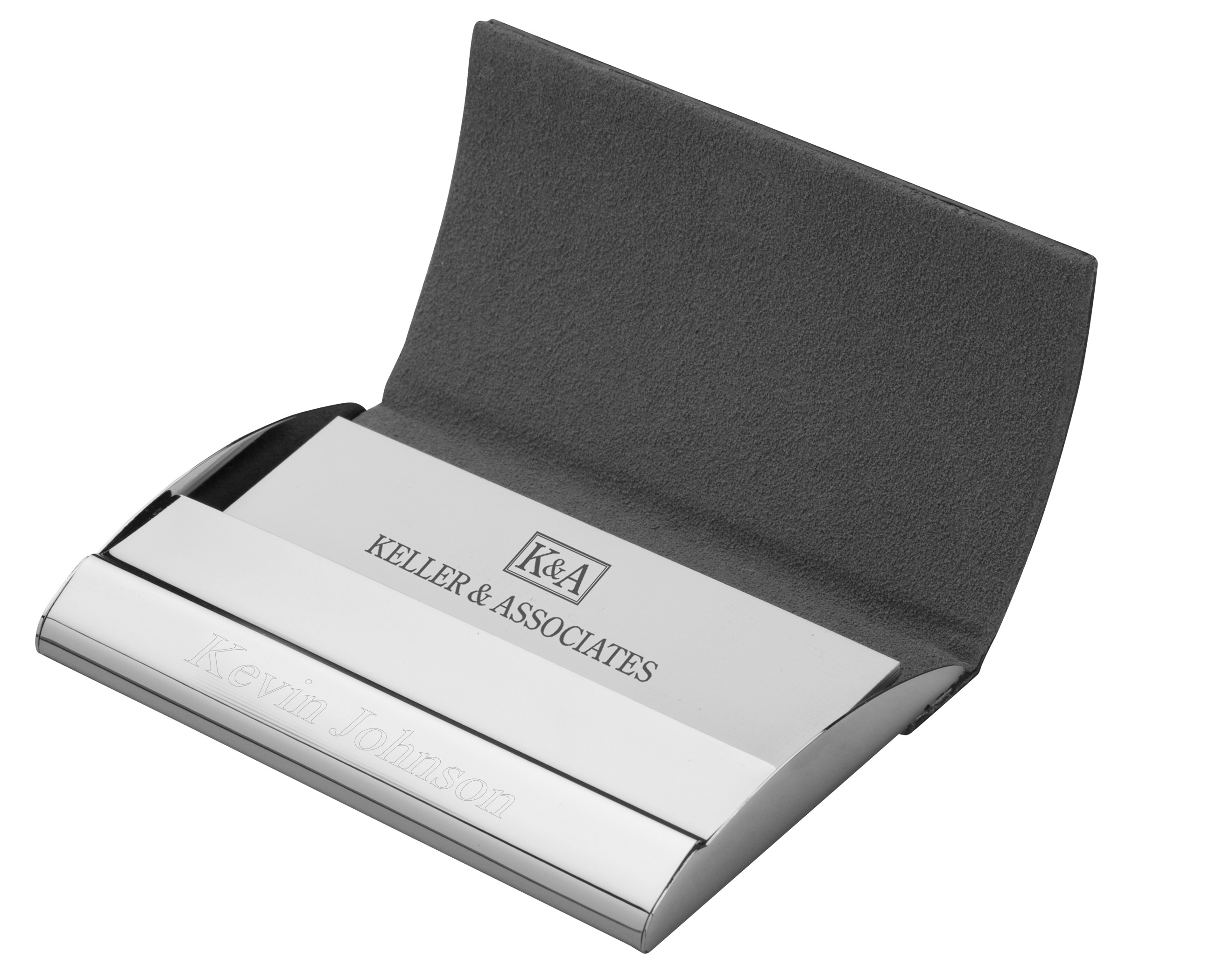 Executive Black Leather Business Card Case Hansonellis
