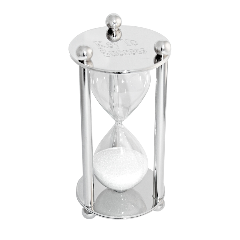 Personalized Silver Hourglass Sandtimer