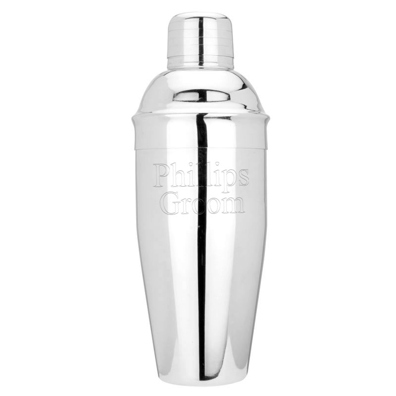 Engraved Bachelor Martini Cocktail Shaker
