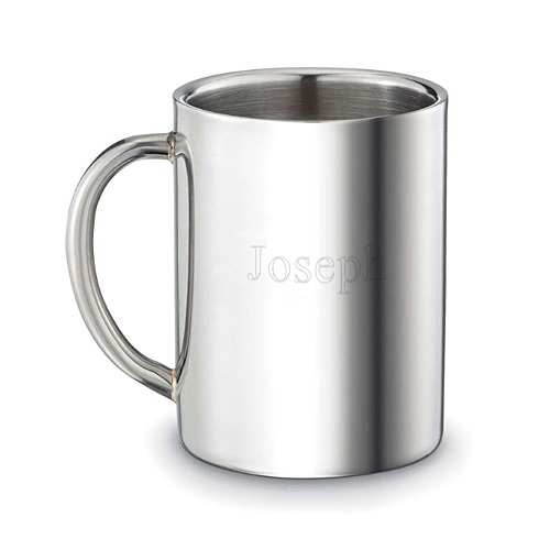 Double-Walled Polished Stainless Steel Drinking Cup
