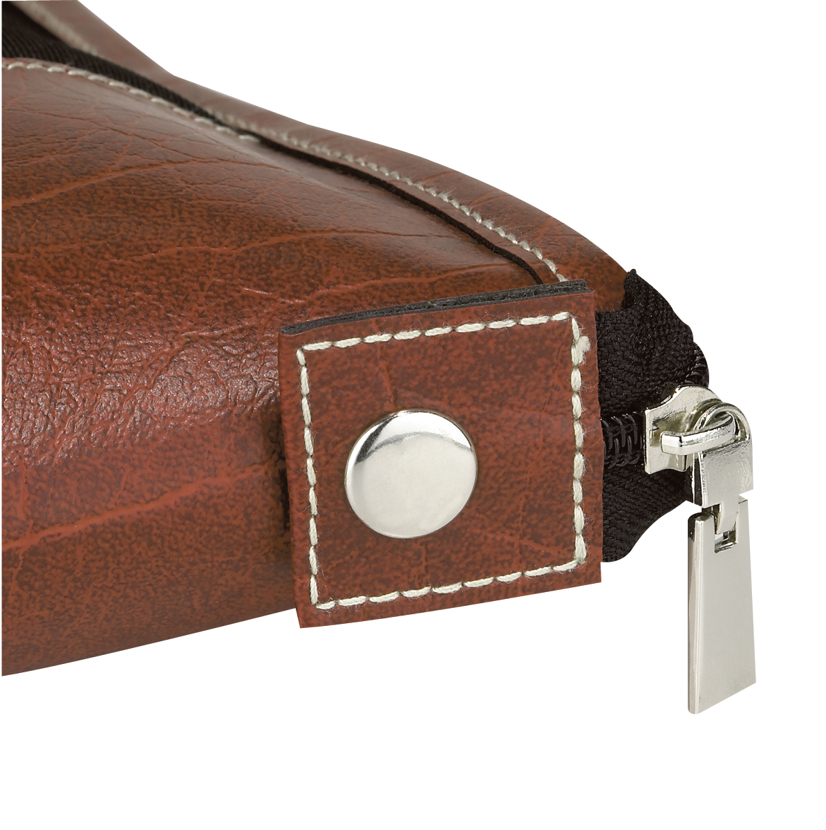 travel suit bag with brown leatherette trim u0026 interior pockets