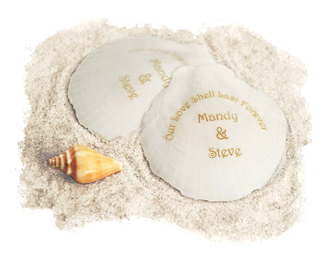 Personalized Sun and Moon Beach Seashells