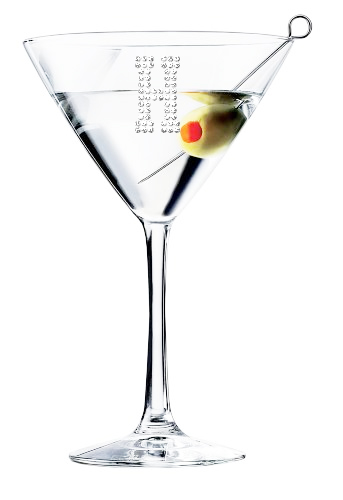 Personalized Classic Martini/Cocktail Glass (Optional Personalized Crystal Rhinestones)