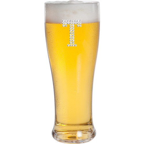Classic Pilsner Beer Glass (Optional Personalized Crystal Rhinestones)