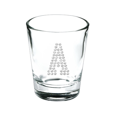 Personalized Crystal Rhinestones Shot Glass