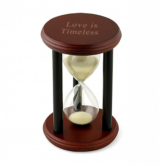 Personalized Wood Hourglass Sand Timer