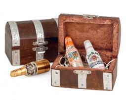wood treasure chest favor box