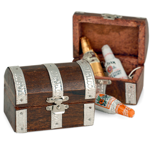 Wood Treasure Chest Favor Box Hansonellis