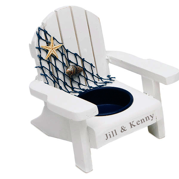 Personalized Wooden Deck Chair Candle Holder
