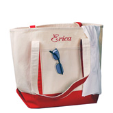 Large Canvas Bridal Tote Bag