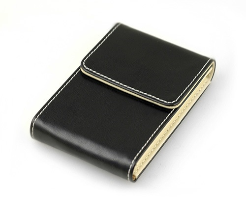 Leather Business Magnetic Card Holder