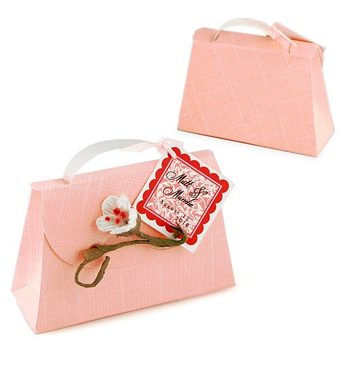 Blushing Bride Purse Wedding Favor Box