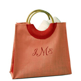 Pink Shopping Jute Tote Bag