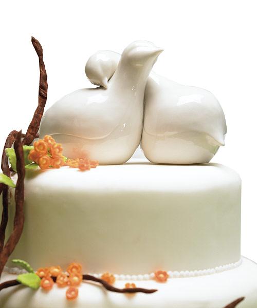 Porcelain Love Birds Cake Toppers