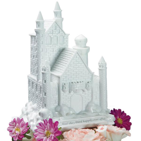 White Castle Wedding: White Wedding Porcelain Castle Cake Topper: HansonEllis.com
