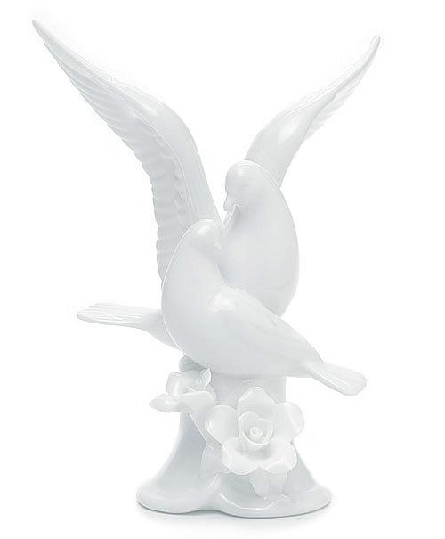 White Dove Porcelain Cake Topper