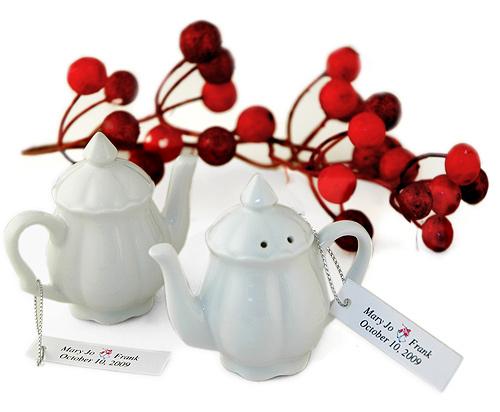 Porcelain Teapot Salt & Pepper Shakers