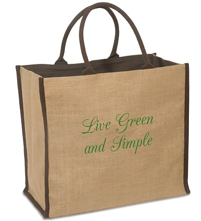 Brown Eco Friendly Shopping Jute Tote Bag
