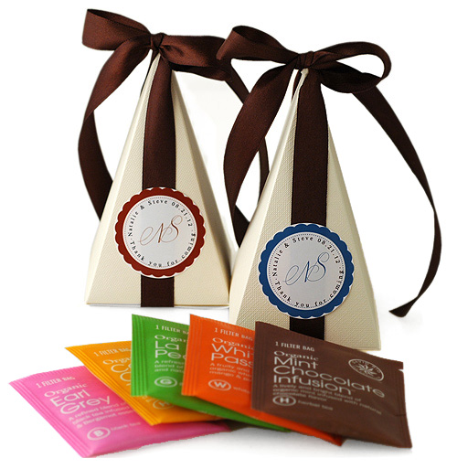 Tea Time Pyramid Favor Box*