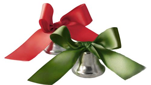 Satin Ribbon Wedding Bell Favor