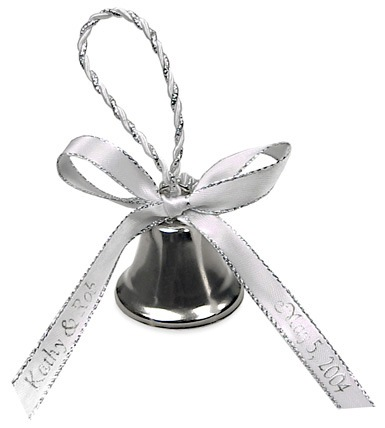Rope Wedding Bell with Twisted Metallic Rope