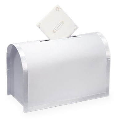 White Wedding Donation Gift Card Box