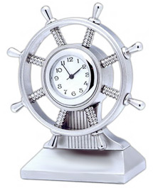 Sailboat Wheel Office Desk Clock