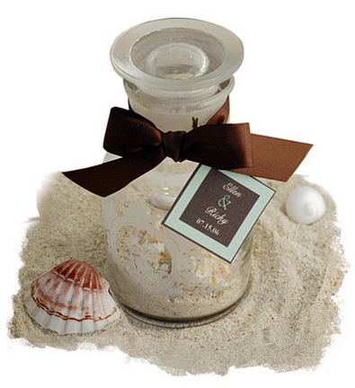 Victorian Sand and Seashells Apothecary Jar*