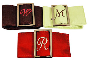 Silk Napkin Ring Belt Holders*