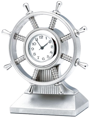 Nautical Sailboat Wheel Office Desk Clock