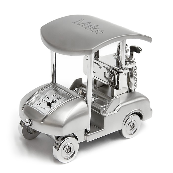 Silver Proclub Golf Cart Clock