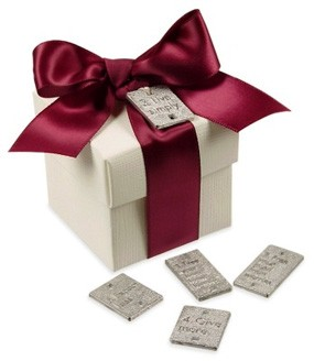 Silver Life Quote Charm Wedding Favor Box
