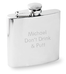 Engraved Stainless Steel Flask - 6oz