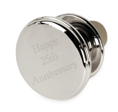 Engraved Silver Round Bottle Stopper