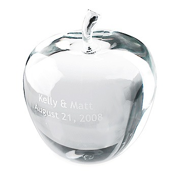 Small Crystal Apple Achievement Award