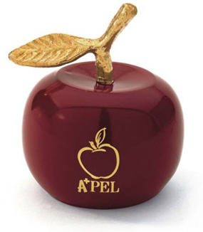 Solid Brass Red Apple Bell