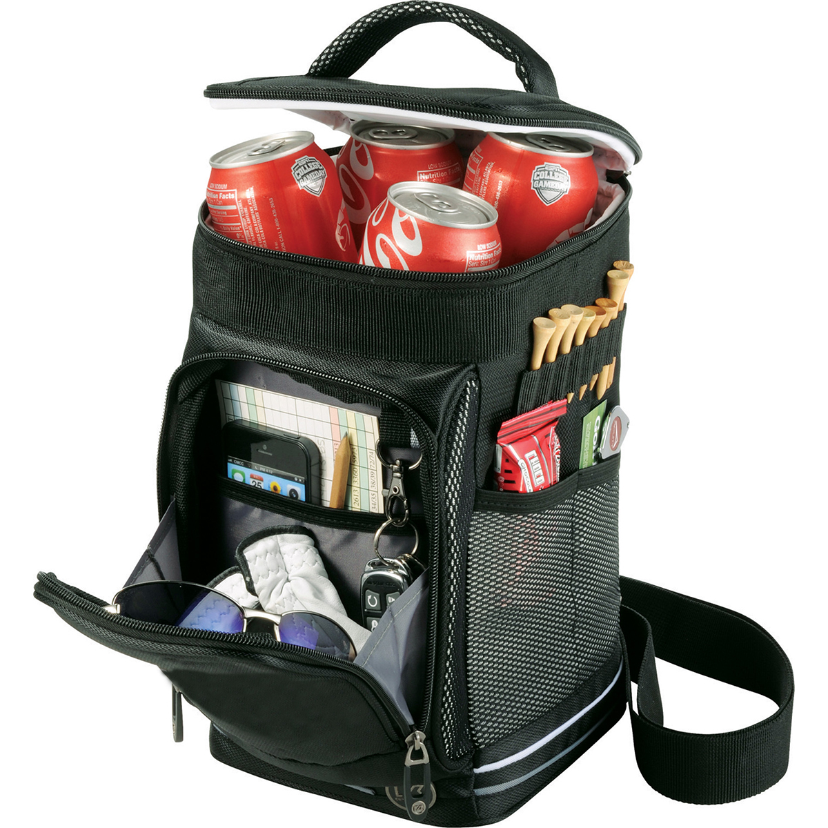 Sports Pro Golf Beverage Cooler Zippered Compartment Bag