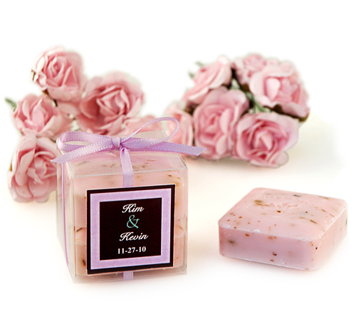 Wedding Rose Square Soaps Favor Box