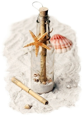Starfish Theme Bottle Invitation