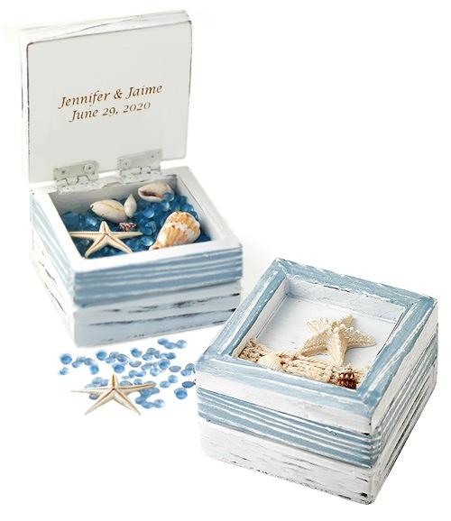 Sea Of Love Starfish Favor Trinket Box