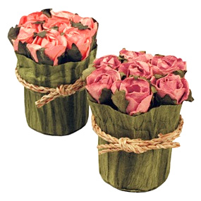 Bridal Candy Flower Pot of Roses