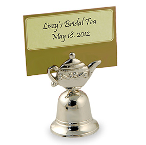 Teapot Bell Placecard Holder